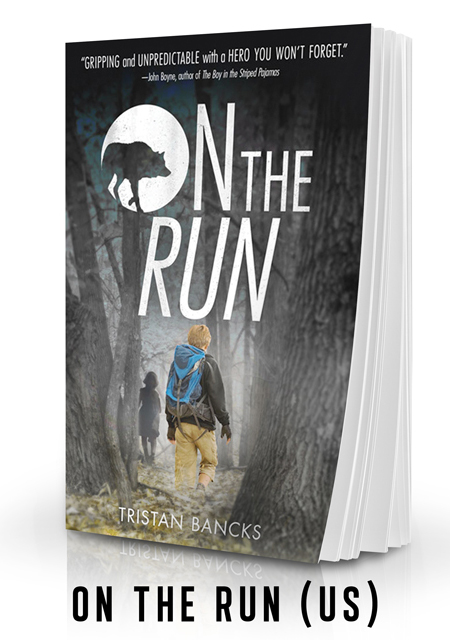 ON THE RUN is the US edition of TWO WOLVES a crime mystery suspense novel for kids by author TRISTAN BANCKS