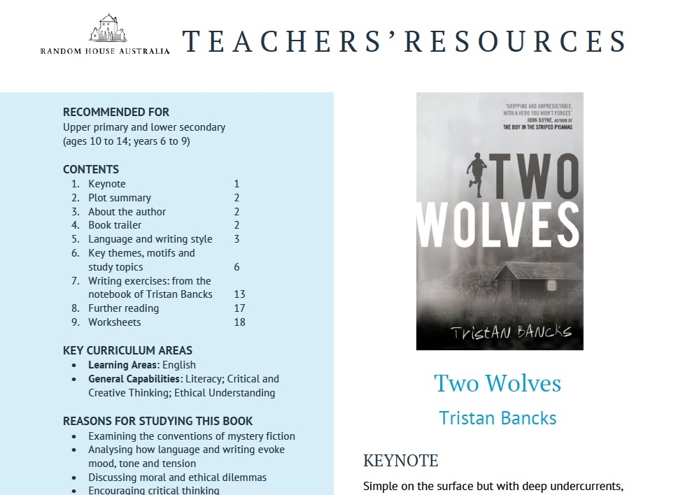 Two Wolves Teaching Materials
