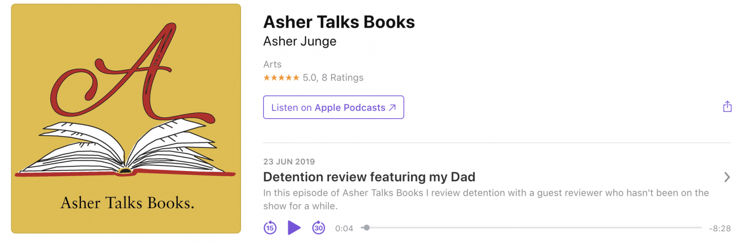 Asher Talks Books Detention book review
