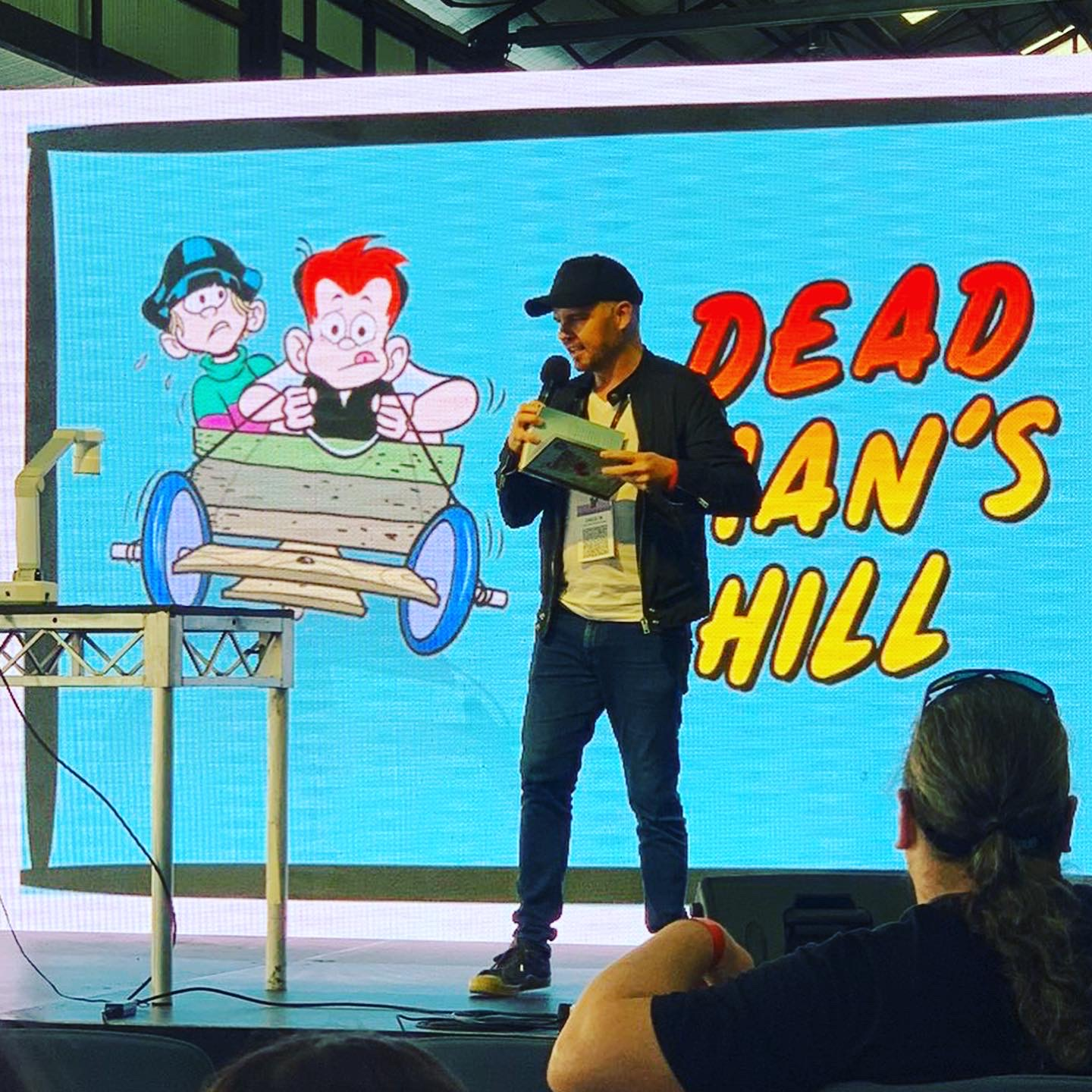 Reading from the first story in the book, Dead Man's Hill.