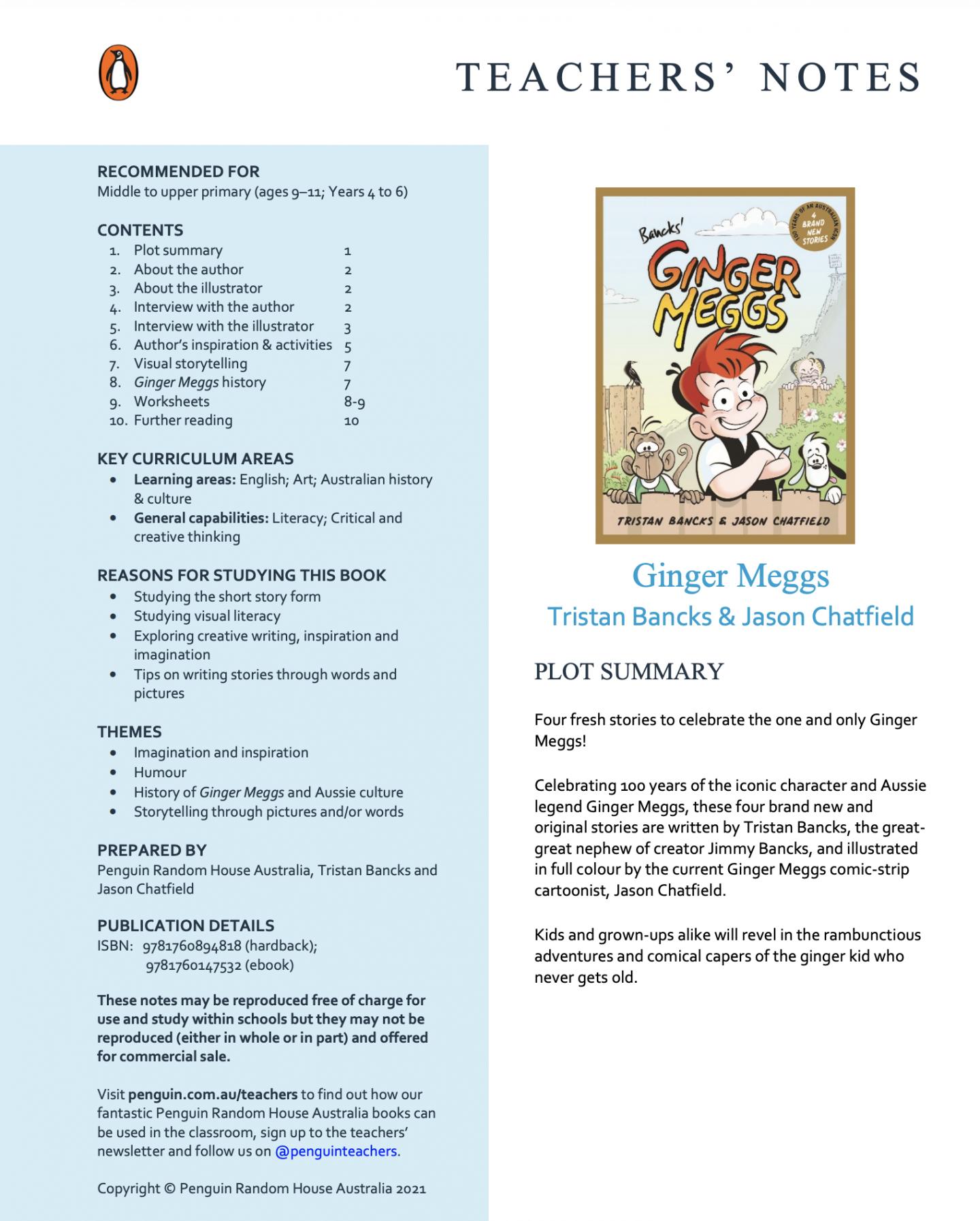 Ginger Meggs Teaching Materials